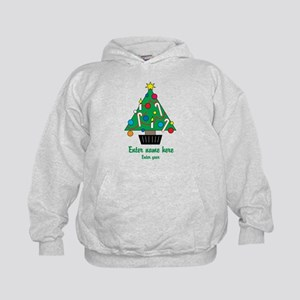 Personalized Christmas Tree Kids Hoodie