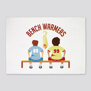 Bench Warmers 5'x7'Area Rug