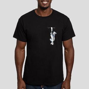 Clingy Bulldog Men's Fitted T-Shirt (dark)