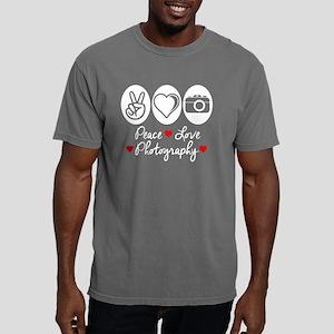 Peace Love Photography Mens Comfort Colors Shirt