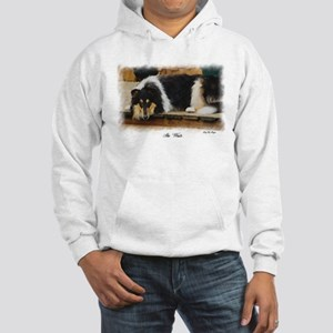 Tri Color Collie Hooded Sweatshirt