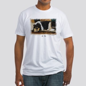 Tri Color Collie Fitted T-Shirt