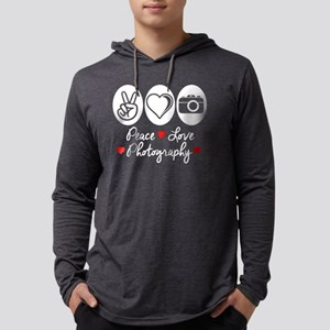 Peace Love Photography Mens Hooded Shirt
