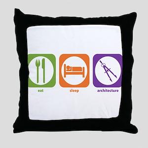 Eat Sleep Architecture Throw Pillow