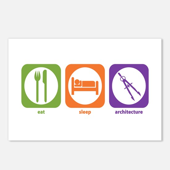 Eat Sleep Architecture Postcards (Package of 8)