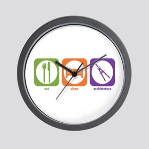 Eat Sleep Architecture Wall Clock