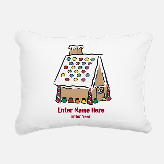 Personalized Gingerbread House Rectangular Canvas
