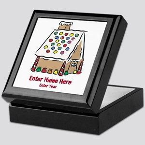 Personalized Gingerbread House Keepsake Box