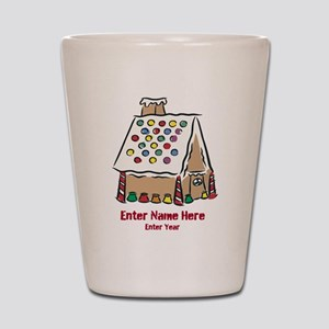 Personalized Gingerbread House Shot Glass