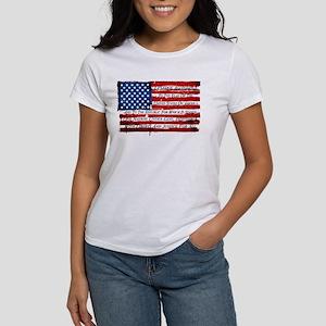 Patriotic Pledge of Allegiance USA Flag T-Shirt