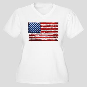 Patriotic Pledge of Allegiance U Plus Size T-Shirt