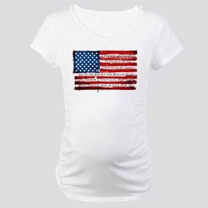 Patriotic Pledge of Allegiance U Maternity T-Shirt