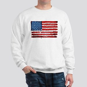 Patriotic Pledge of Allegiance USA Flag Sweatshirt