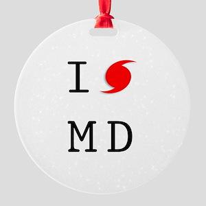 Hurricane Sandy Maryland Round Ornament