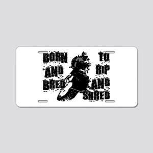 Born And Bred Aluminum License Plate