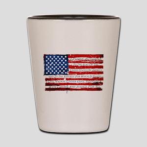 Patriotic Pledge of Allegiance USA Flag Shot Glass