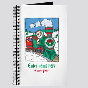 Personalized Santa Train Journal