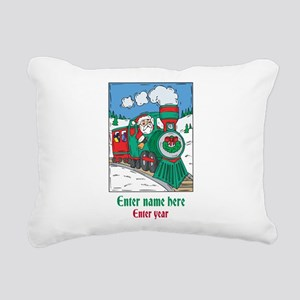 Personalized Santa Train Rectangular Canvas Pillow