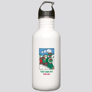 Personalized Santa Train Stainless Water Bottle 1.
