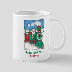 Personalized Santa Train Mug