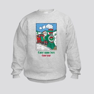 Personalized Santa Train Kids Sweatshirt