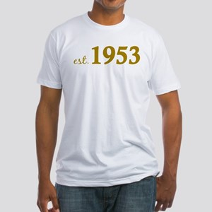 Est 1953 (Born in 1953) Fitted T-Shirt