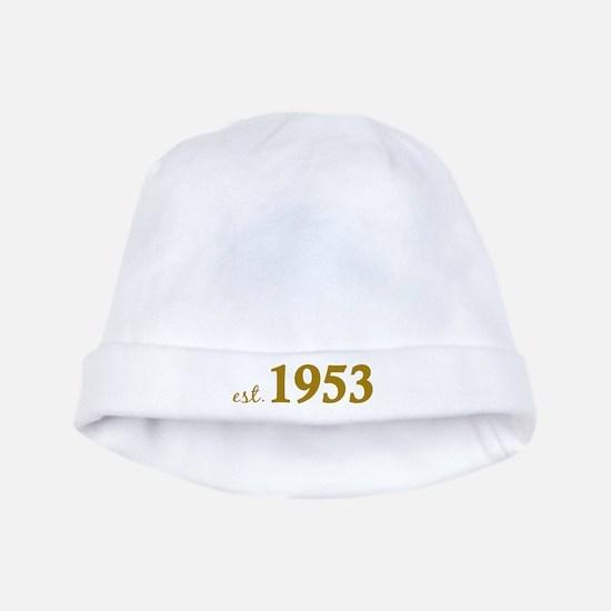 Est 1953 (Born in 1953) baby hat
