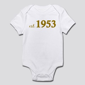 Est 1953 (Born in 1953) Infant Bodysuit