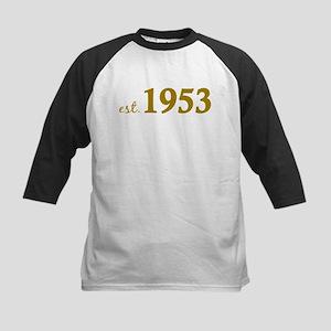 Est 1953 (Born in 1953) Kids Baseball Jersey