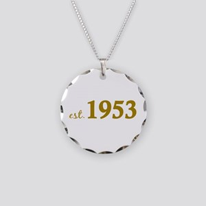Est 1953 (Born in 1953) Necklace Circle Charm