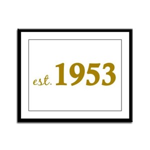 Est 1953 (Born in 1953) Framed Panel Print