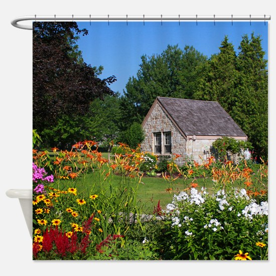 Country Garden Cottage Shower Curtain