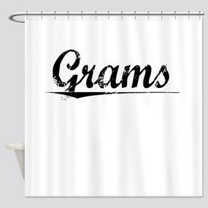 Grams, Vintage Shower Curtain