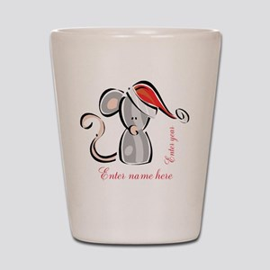 Personalized Christmas Mouse Shot Glass