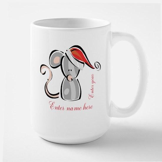 Personalized Christmas Mouse Large Mug