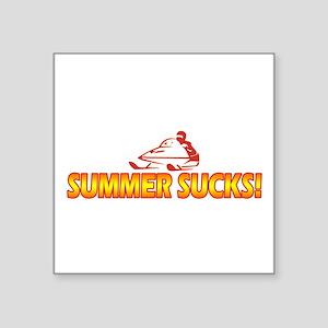 "Summer Sucks Square Sticker 3"" x 3"""