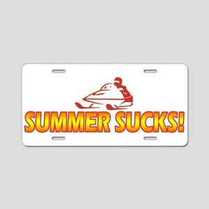 Summer Sucks Aluminum License Plate