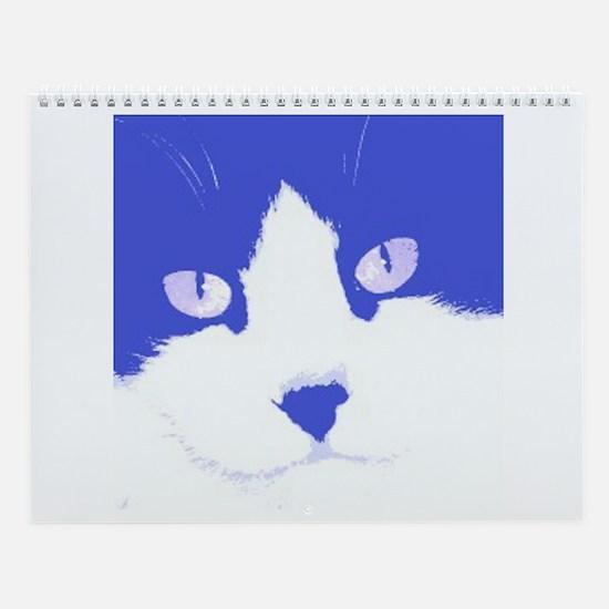 Kitty Cat Pop Art Wall Calendar