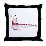 Oarfish (Lilys Deep Sea Creatures) Throw Pillow