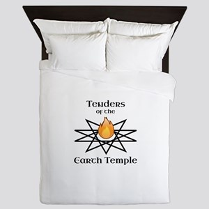 Tenders of the Earth Temple Sigil Queen Duvet
