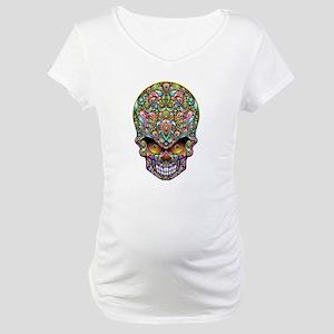 Psychedelic Skull Art Design Maternity T-Shirt