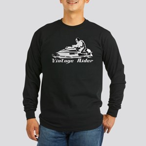 Vintage Rider Long Sleeve Dark T-Shirt