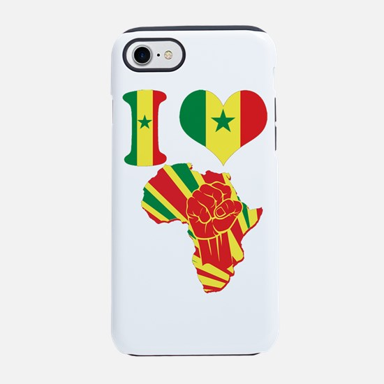 I Love Senegal Flag Africa Bla iPhone 7 Tough Case