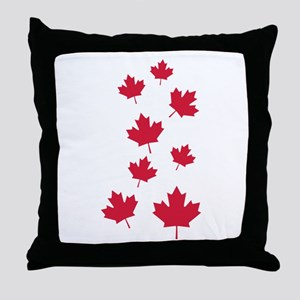 Canada maple leafs Throw Pillow