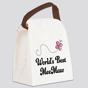 Worlds Best MeeMaw Canvas Lunch Bag