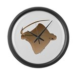 Bat Ray Large Wall Clock