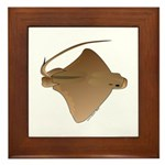 Bat Ray Framed Tile