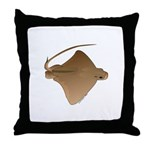 Bat Ray Throw Pillow