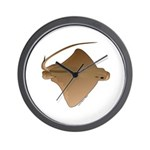 Bat Ray Wall Clock