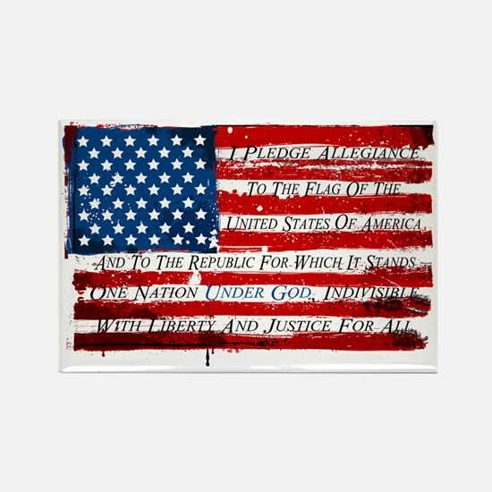 Patriotic Pledge of Allegiance USA Flag Magnets